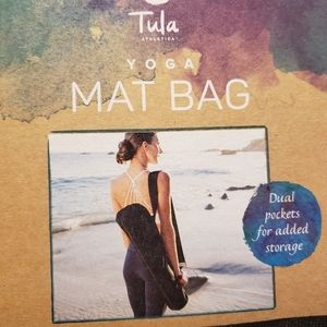 Tula Black Yoga Mat Bag Tote Carrier Washable